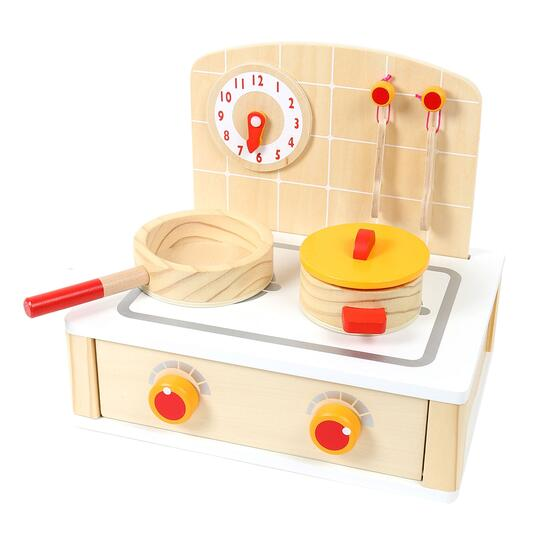 Tooky Toy Wooden Cute Kitchen Set - 7pc.