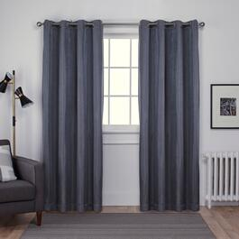 Exclusive Home Carling Basketweave Blackout Curtain Panel 2pc. - 108in.