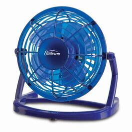 Sunbeam Blue USB Fan - 4in.