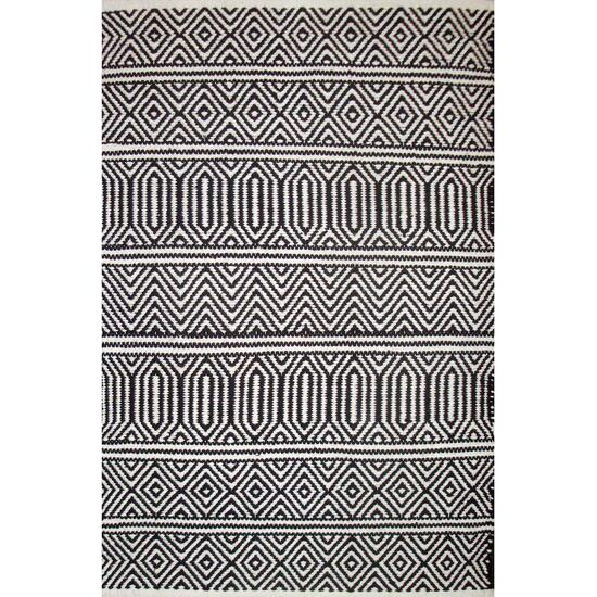 Avocado Décor Black Dhurrie Geo Rug - 3.9ft. x 5.9ft.