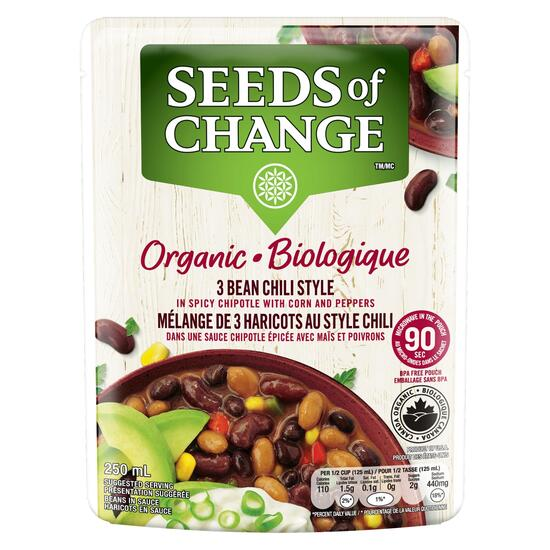 Seeds of Change 3 Bean Chili Spicy Chipotle Corn and Peppers - 250ml