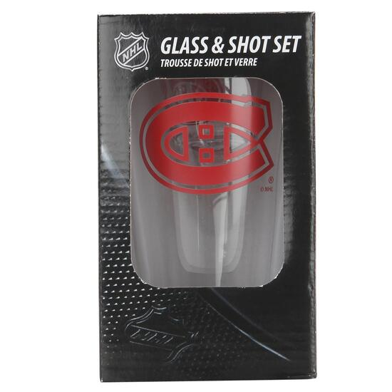 NHL Montreal Canadiens Pint and Shot Glass Set