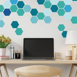 Truu Design Aqua Hexagon Decals - 6pk.