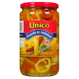 Unico Pickled Hot Pepper Rings - 750ml