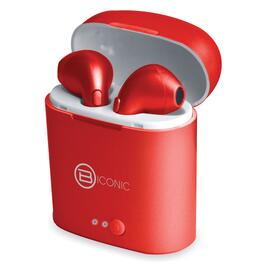B-iconic Unleash Red Wireless Bluetooth Earbuds with Charging Case