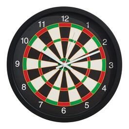Dart Board Wall Clock - 12in.