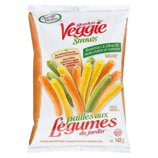 Sensible Portions Rosemary and Olive Oil Garden Veggie Straws - 142g