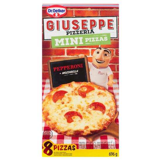 Dr. Oetker Giuseppe Pizzeria Pepperoni and Mozzarella Mini Pizzas 8pk. - 696g