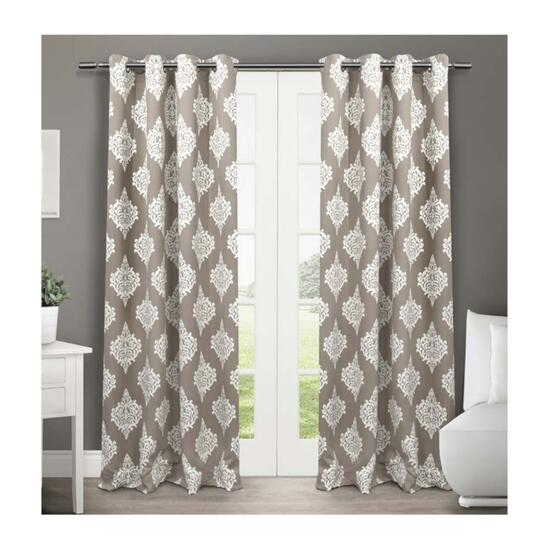 Exclusive Home Medallion Taupe Blackout Thermal Curtain Panels - 2pc.