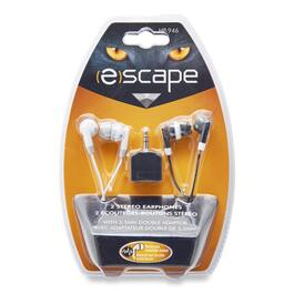 Escape Earbuds with Splitter - 2pk.