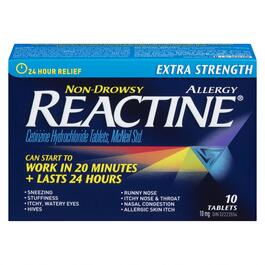Reactine Extra Strength Allergy Relief Tablets - 10pk.