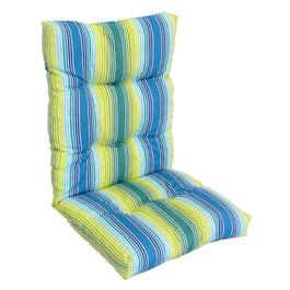 Henryka Green/Blue Deluxe Reversible High Back Cushion