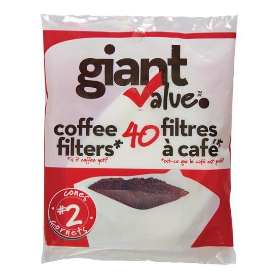 Giant Value #2 Coffee Filters - 40pk.
