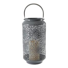 Metal Lantern with LED Candle - 12in.