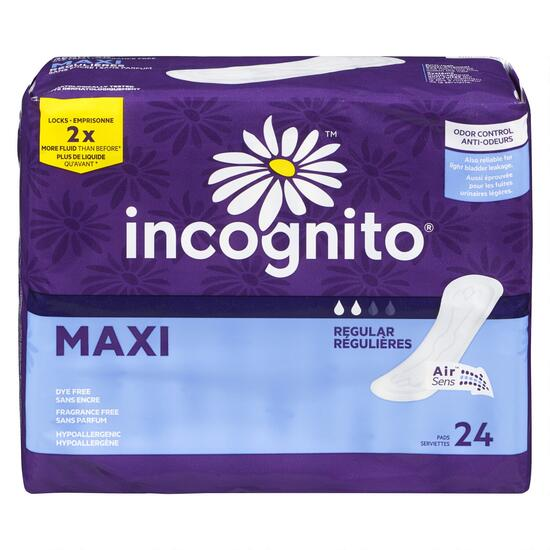 Incognito® Maxi Regular Pads - 24pk.