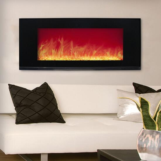 Paramount Mirage Wall Mount With Multi Colour Flames 42in Giant Tiger