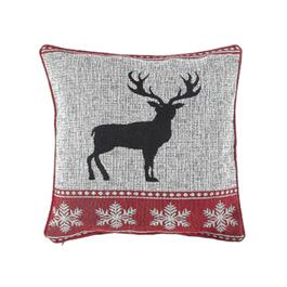 Reindeer Tapestry Throw Pillow - 18in.