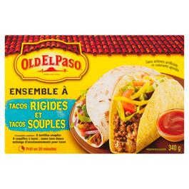 Old El Paso Dinner Kit Hard and Soft Taco - 340g