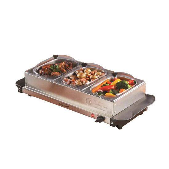 Brentwood 3 Pan Buffet Server Warming Tray