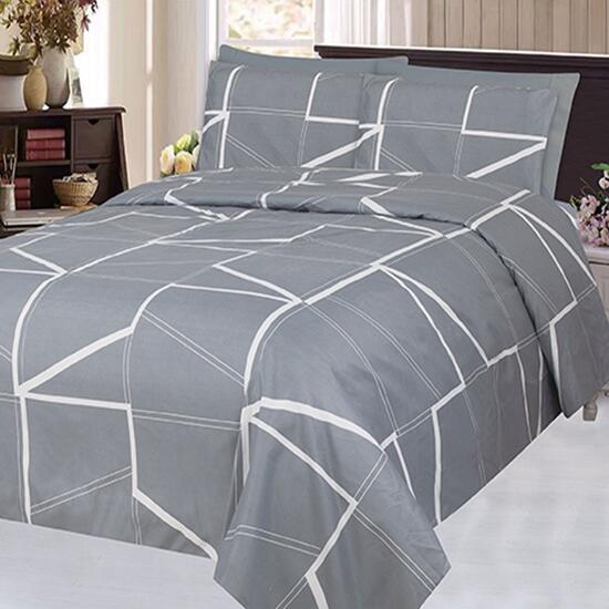 Bamboo Living Blue Morden Fantasy Geometric Queen Sheet Set - 6pc.