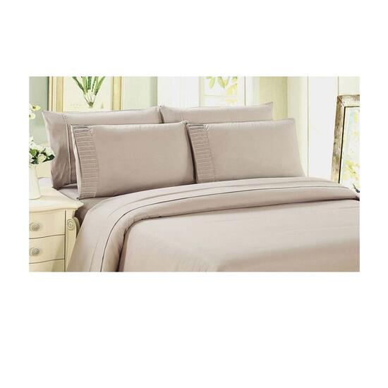 Bamboo Living Eco Friendly Egyptian Comfort 6 Piece Sheet Set - Full/Double - Ivory