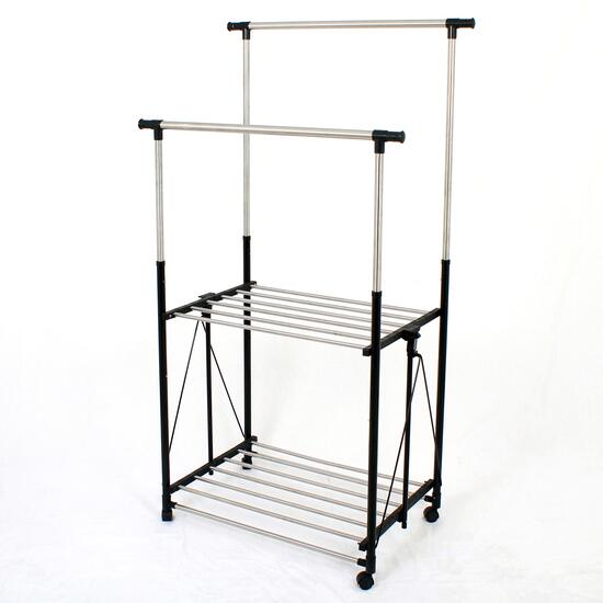 Greenway Collapsible Garment Rack with Wheels