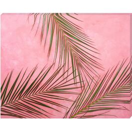 Palm on Pink Canvas Art - 16in. x 20in.