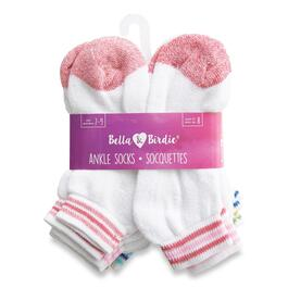 BELLA & BIRDIE Girls Ankle Socks 8pk. - 7-9