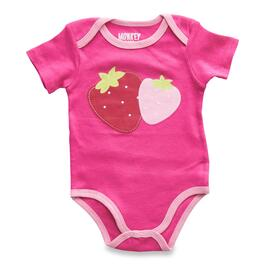 MONKEY BARS Infant Girls Basic Onesie - 0-24M