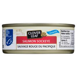 Clover Leaf Sockeye Salmon Wild Red Pacific - 142g