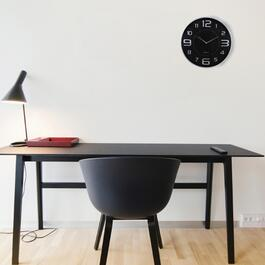 Modern Silver Wall Clock - 18in.