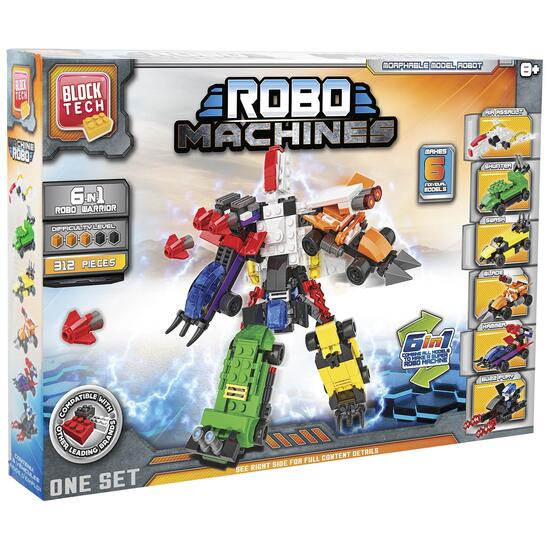 Block Tech 6-in-1 Robo Machines - 344pc.