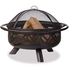 ENDLESS SUMMER Oil Rub Bronze Firebowl with Geometric Design