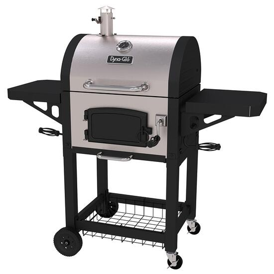 Dyna-Glo Premium Compact Charcoal Grill - Silver