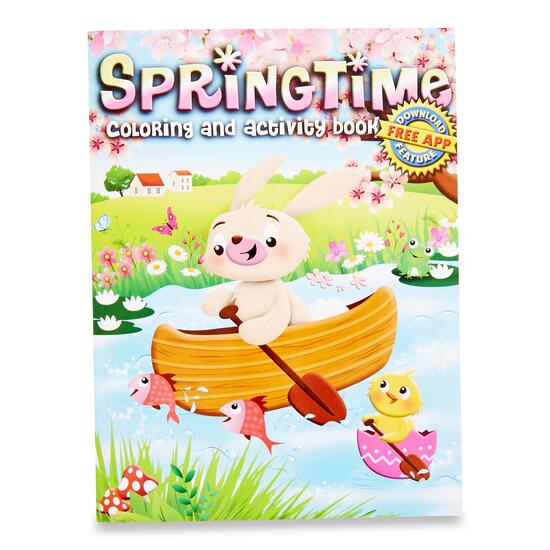 Springtime Colouring and Activity Book