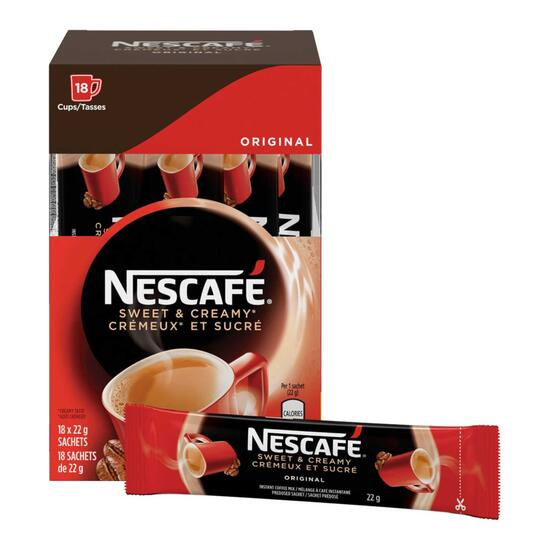 Nescafé Sweet and Creamy Instant Coffee Sachets 18pk. - 22g