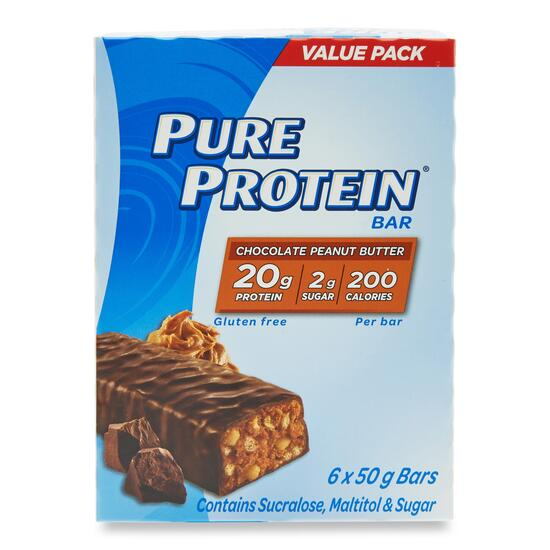 Pure Protein Chocolate and Peanut Butter Bars - 6pk.