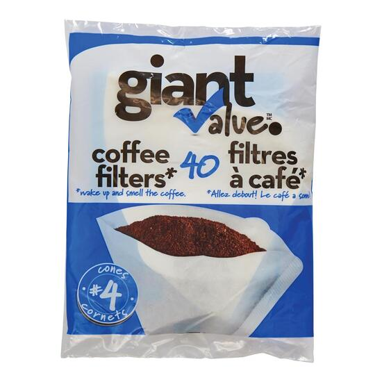Giant Value #4 Coffee Filters - 40pk.
