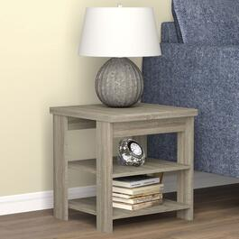 Safdie & Co. Dark Taupe Square Accent Table