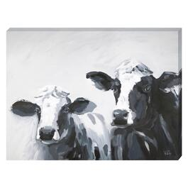 Two Cows Canvas Art - 24in. x 18in.