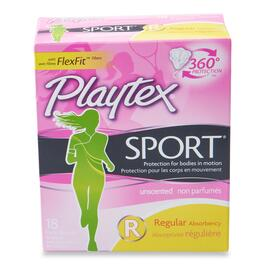 Playtex Sport Regular Unscented Tampons - 18pk.