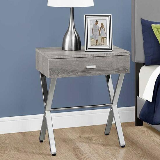Monarch Specialties Dark Taupe Accent Table