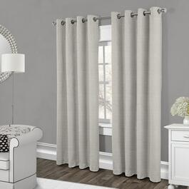 Exclusive Home Faux Raw Silk Blackout Curtain Panels 2pc. - 96in.