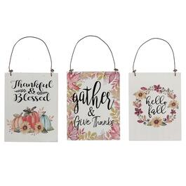 IH Casadecor Fall Inspired Hanging Signs - 3pc.