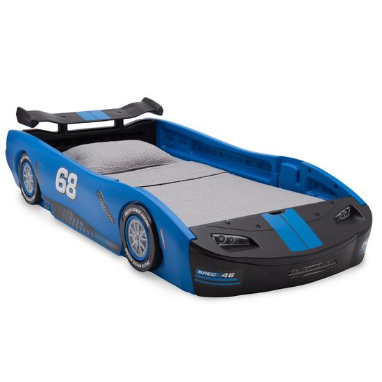 Blue Turbo Race Car Twin Bed