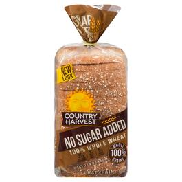 Country Harvest 100% Whole Wheat No Sugar Added Bread - 600g