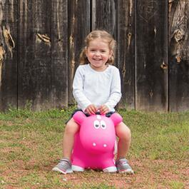 Farm Hoppers Inflatable Cow Bouncer - Pink
