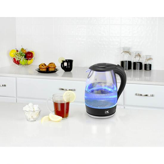 Kalorik Glass Water Kettle with LED Lights - Blue