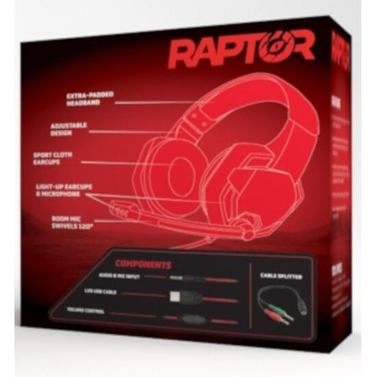 Packard Bell RAPTOR Pro Plus Red Gaming Headset