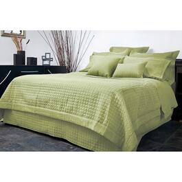 Gouchee Design Grid Microfiber Quilted Duvet Cover Set